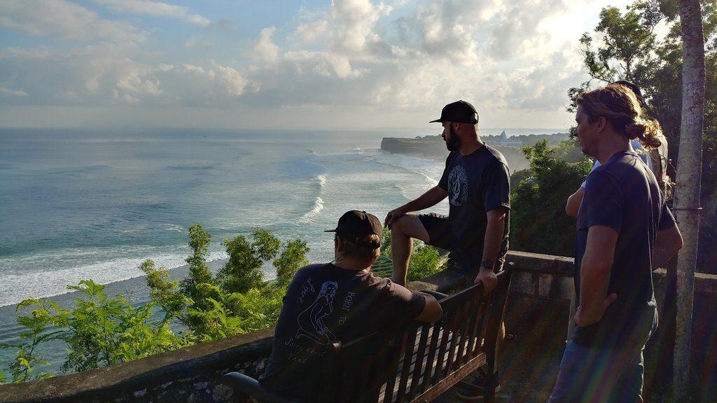 Volcom surfers survey the waves in Bali, Indonesia   © Michael LoRé/Culture Trip