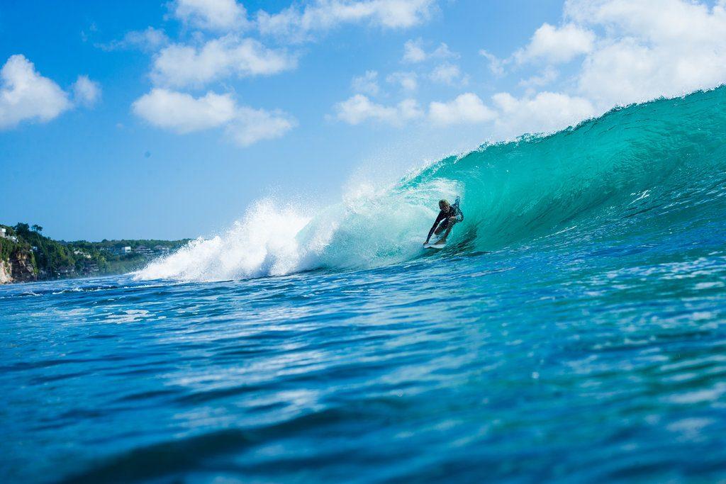 Hagan Johnson, 14, enjoying Bali's best   © Luke Forgay/Volcom