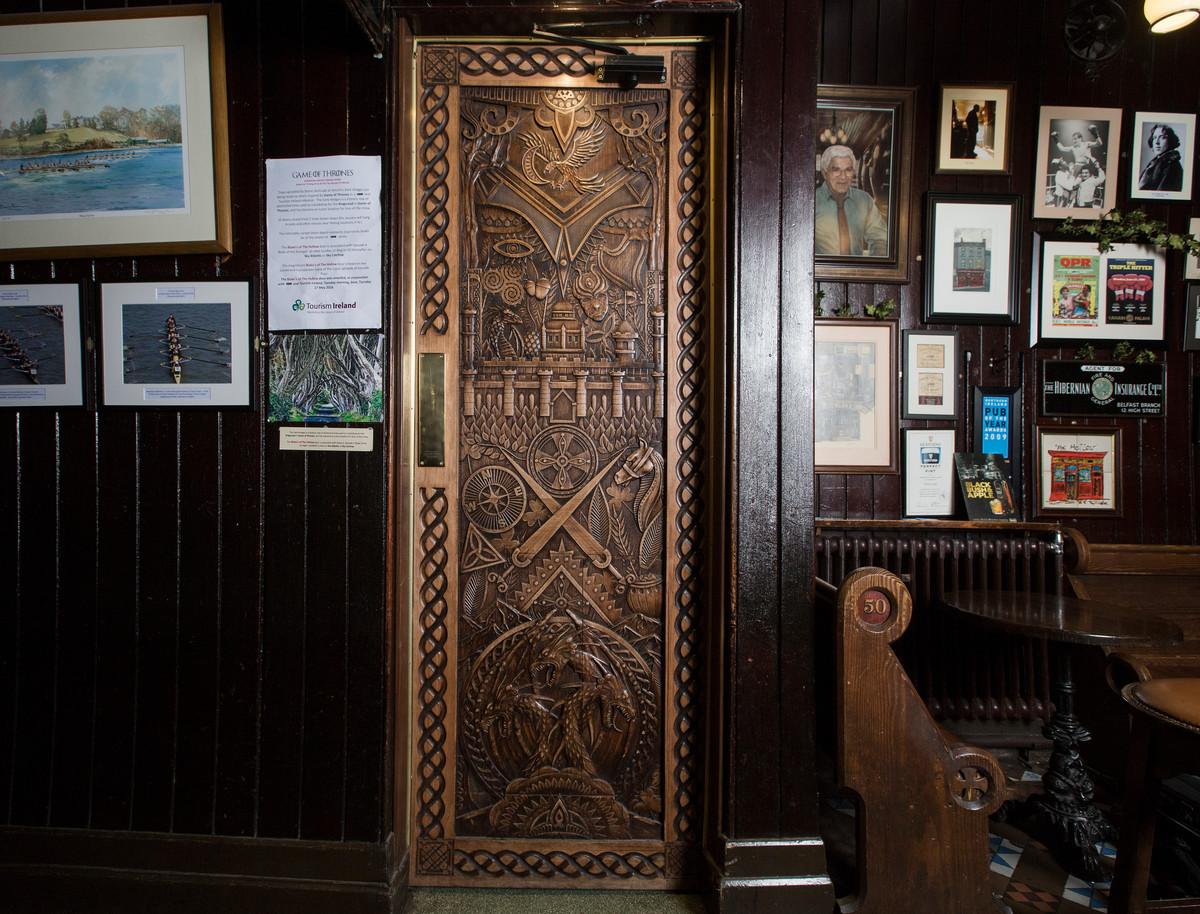 Door 4 at Blake\u0027s | Courtesy of Tourism NI & Where to See the Game of Thrones Doors in Northern Ireland