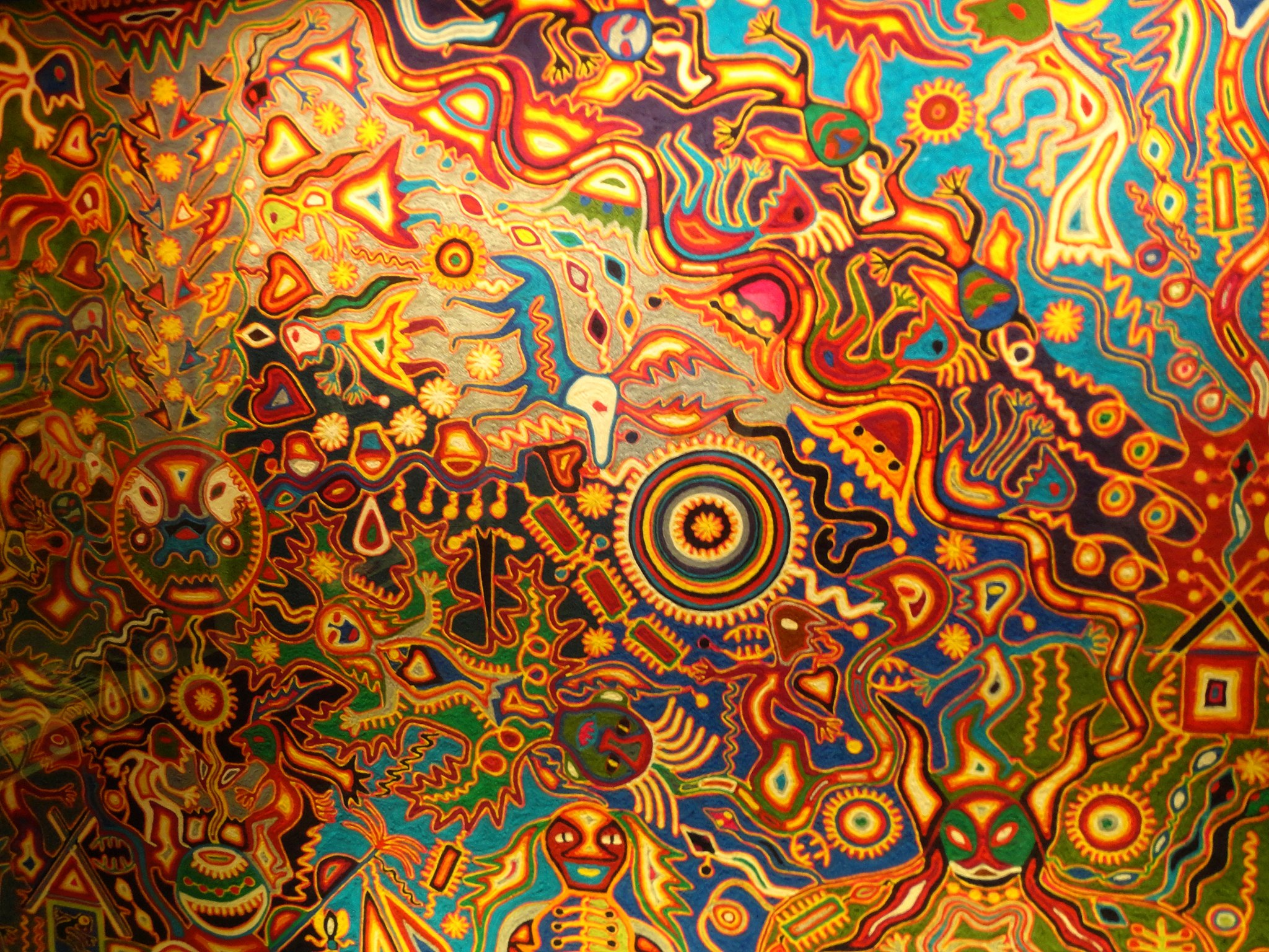 Mural Arte Huichol