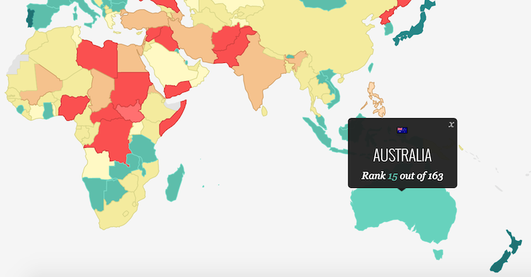 This map shows the most peaceful and safest countries in the world gumiabroncs Gallery