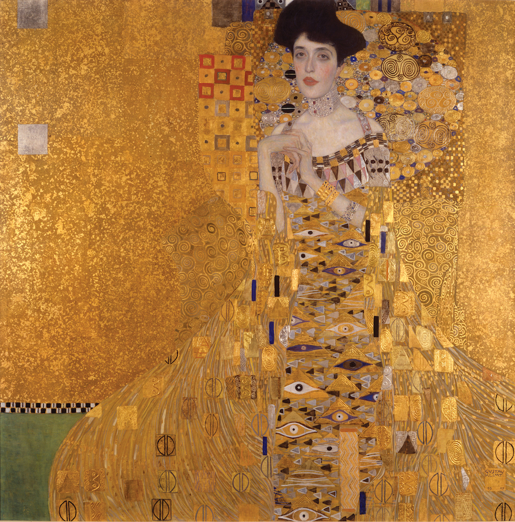Gustav Klimt, Adele Bloch-Bauer I, 1907 | Neue Galerie New York. Acquired through the generosity of Ronald S. Lauder, the heirs of the Estates of Ferdinand and Adele Bloch-Bauer, and the Estée Lauder Fund