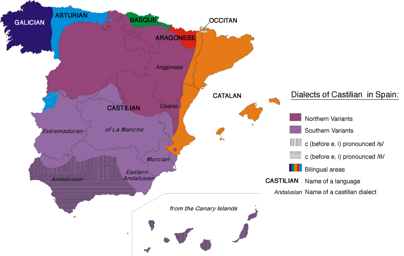 Spain Map Of Languages.Galician Language Everything You Need To Know