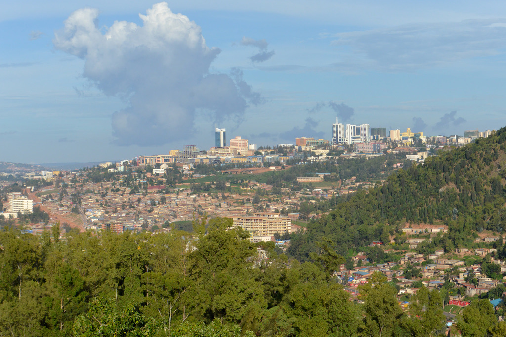 Kigali in the distance
