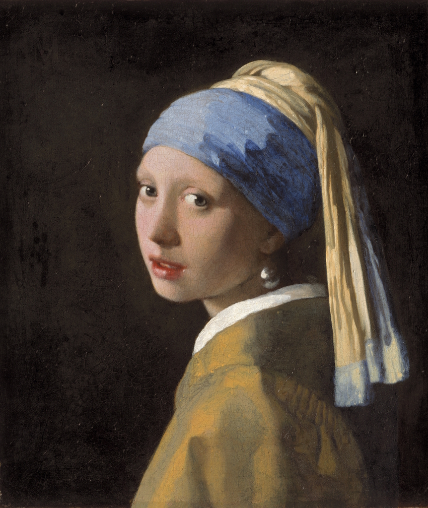Johannes Vermeer , Girl with a Pearl Earring, c. 1665 | Mauritshuis, The Hague