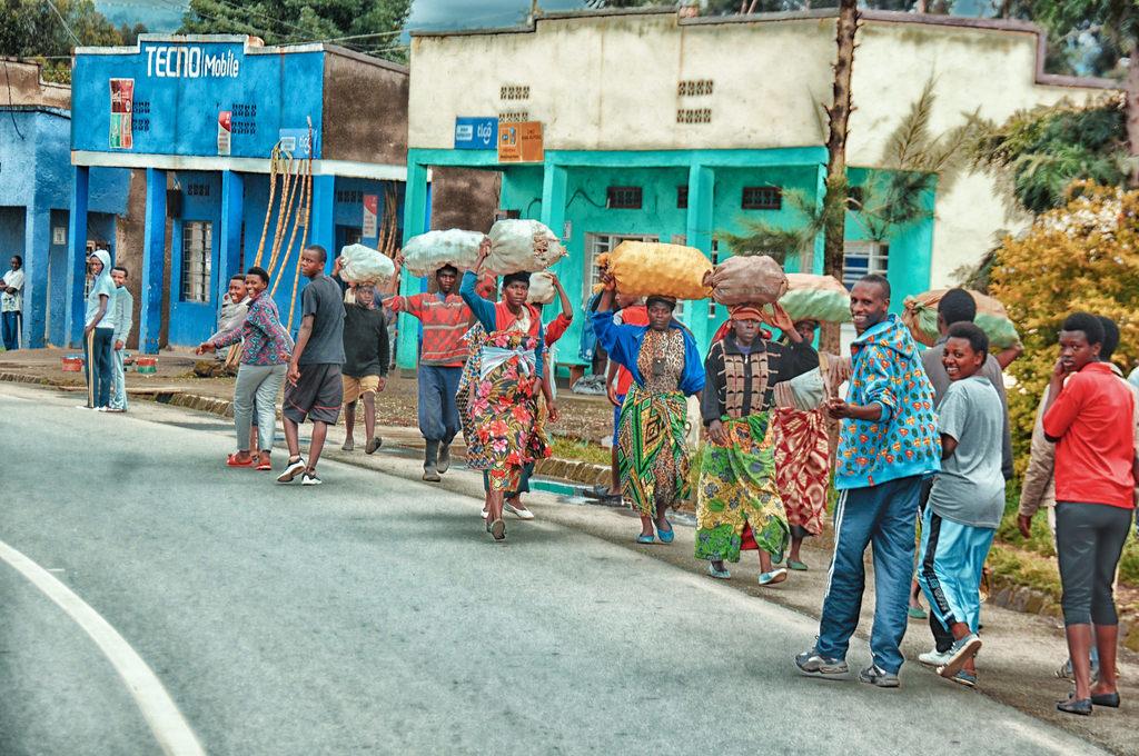 Street scenes in Rwanda
