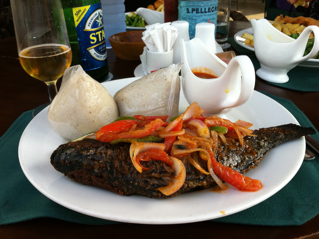 Grilled Tilapia with Banku