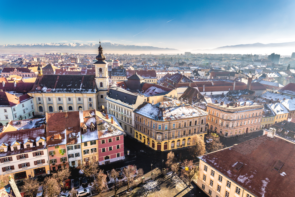 Overview of Sibiu, Transylvania, Romania   © Calin Stan/Shutterstock