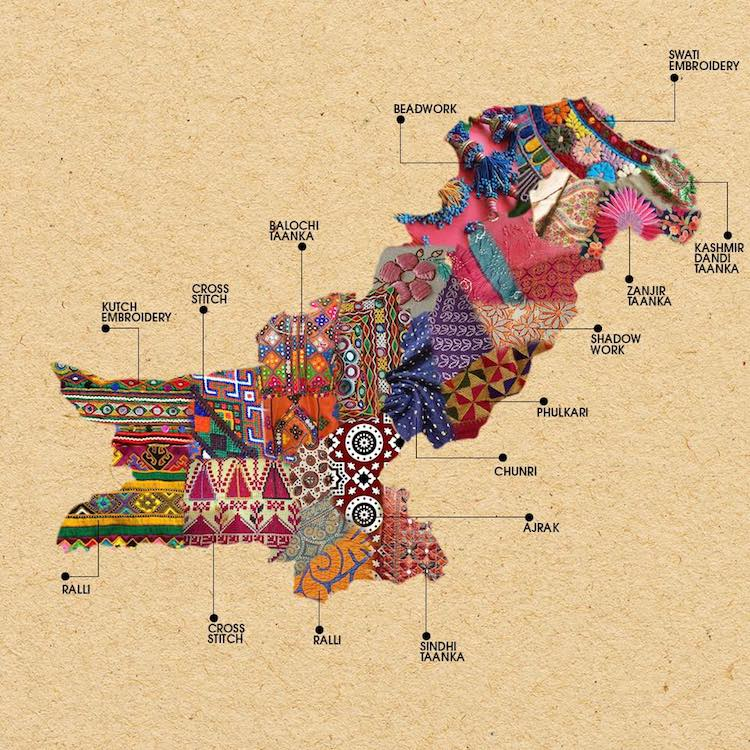 Image result for paksitan textile map