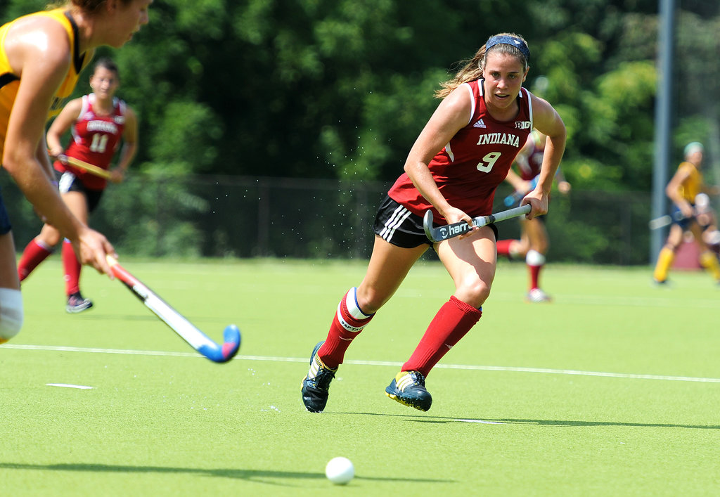 Audra Heilman (9) was a two-time All-American at Indiana University | © IU Athletics