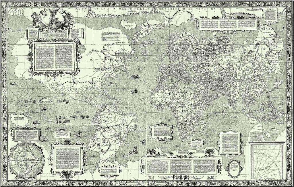 The 1569 world map by Mercator | public domain / Wikimedia Commons