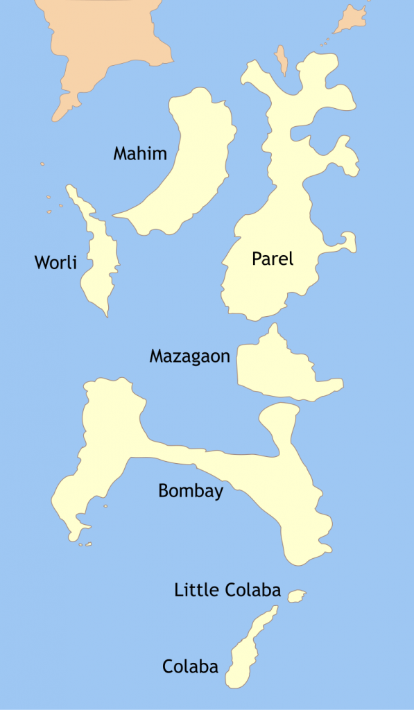 Mumbai On Map Of Asia.A Brief History Of Land Reclamation In Mumbai India