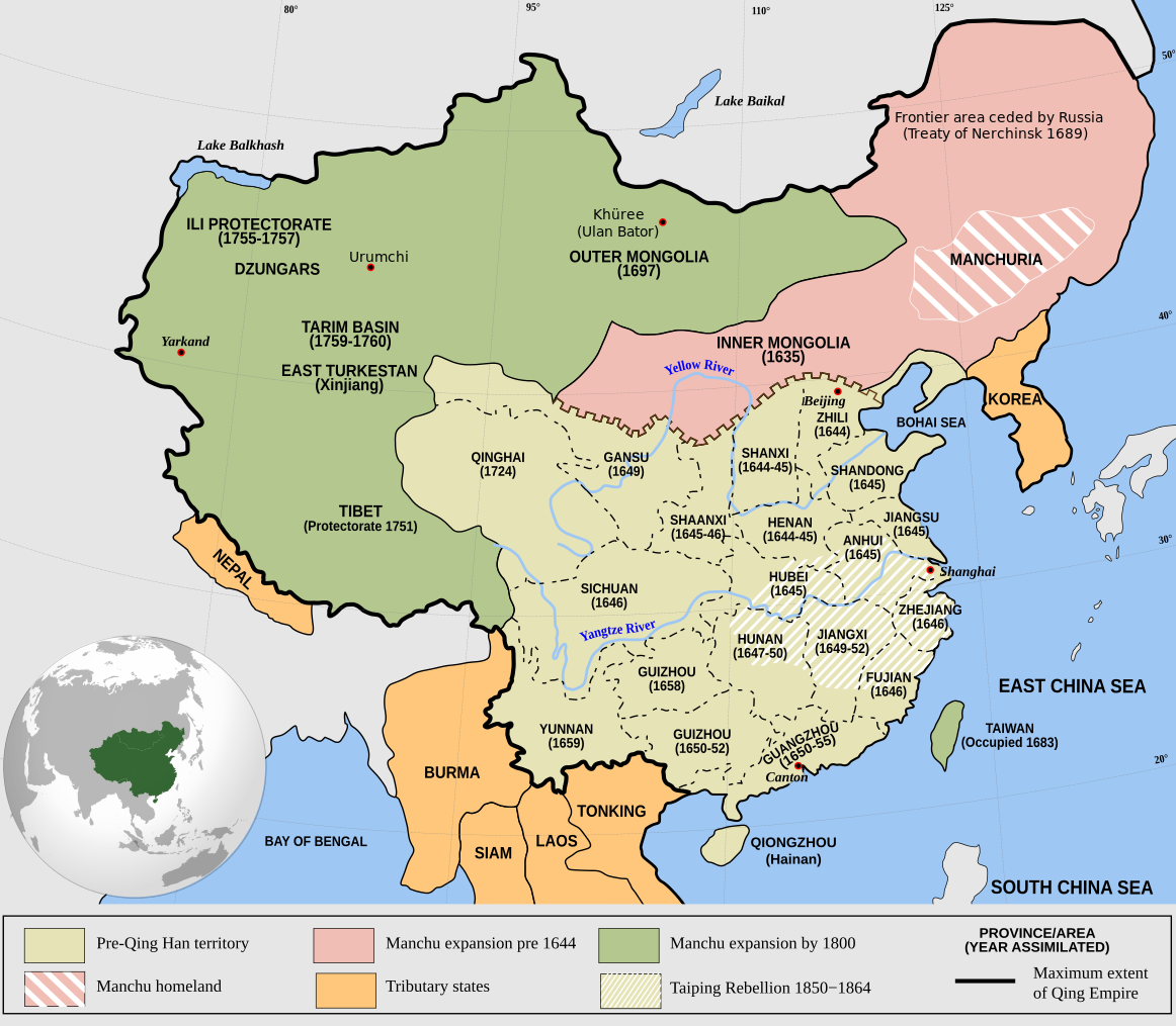 A Brief History of China: Qing Dynasty on