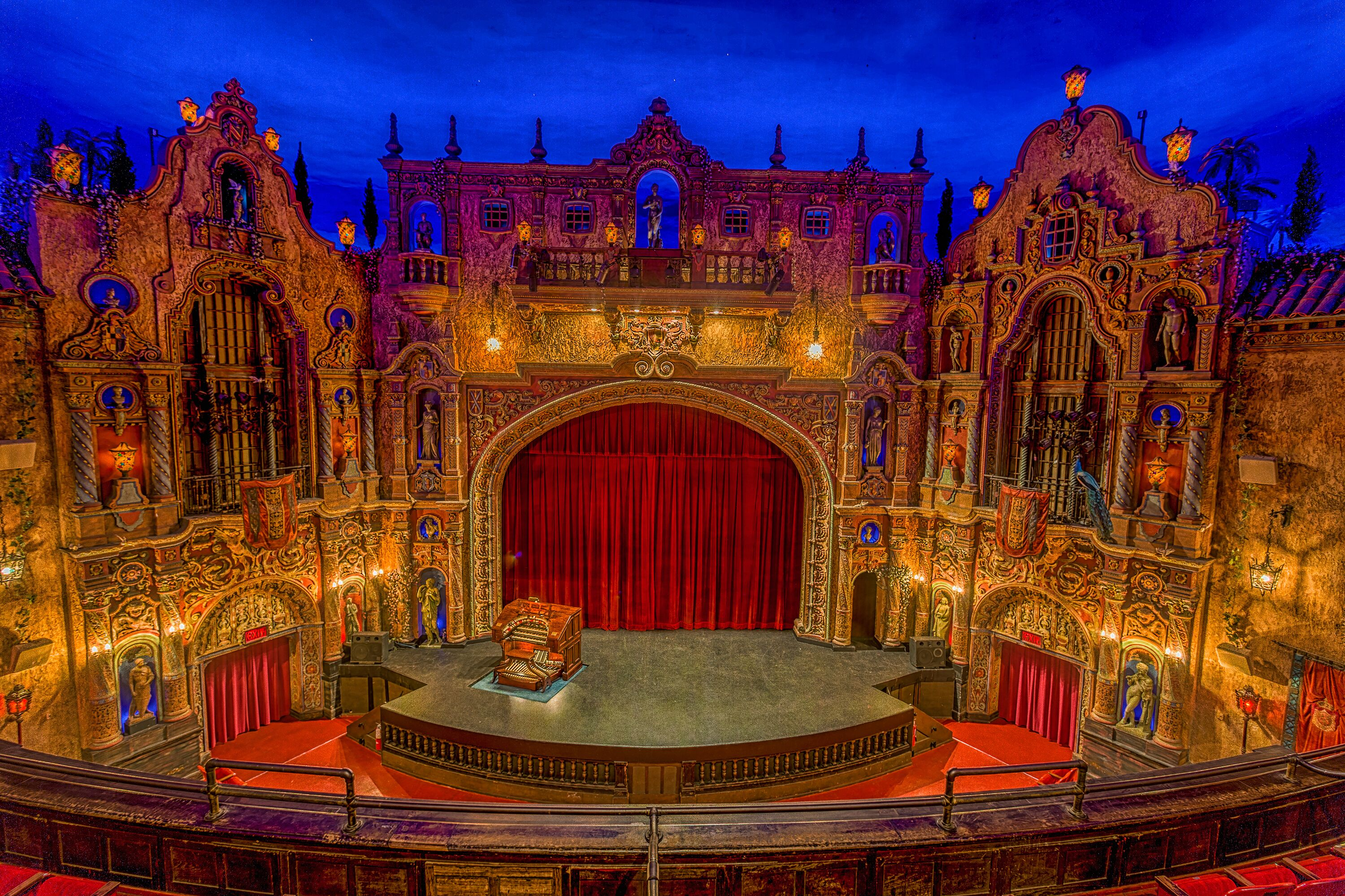 Performance stage at Tampa theater
