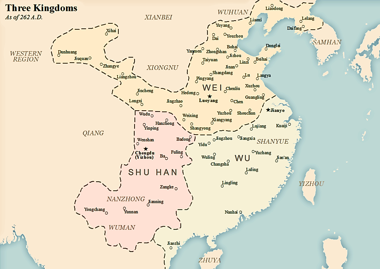 A Brief History of China: Three Kingdoms Period on world map, class map, zoology map, dissidia map, domain map, disney's map, gormenghast map, uk great britain map, klan map, geographix map, perception map, cornplanter map, the 100 map, animal map, end times map, bloodline map, protist map, east and southeast asia map, old medieval europe map, kings map,