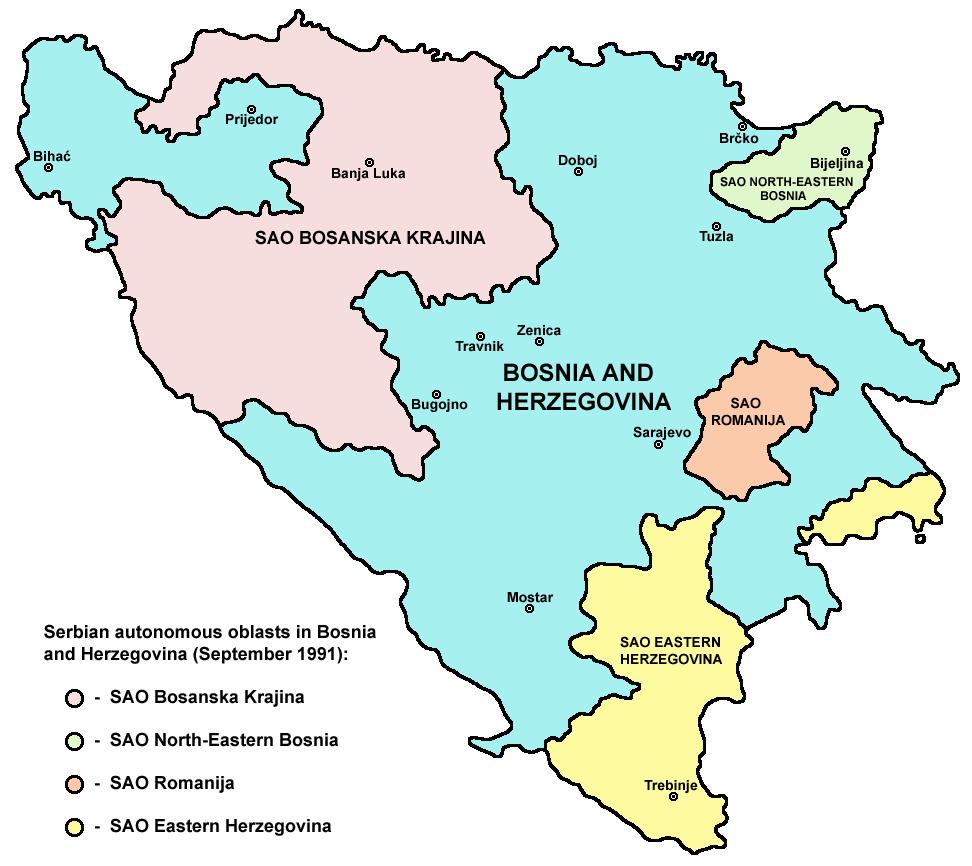 Bosnia and Herzegovina All Four Regions Explained