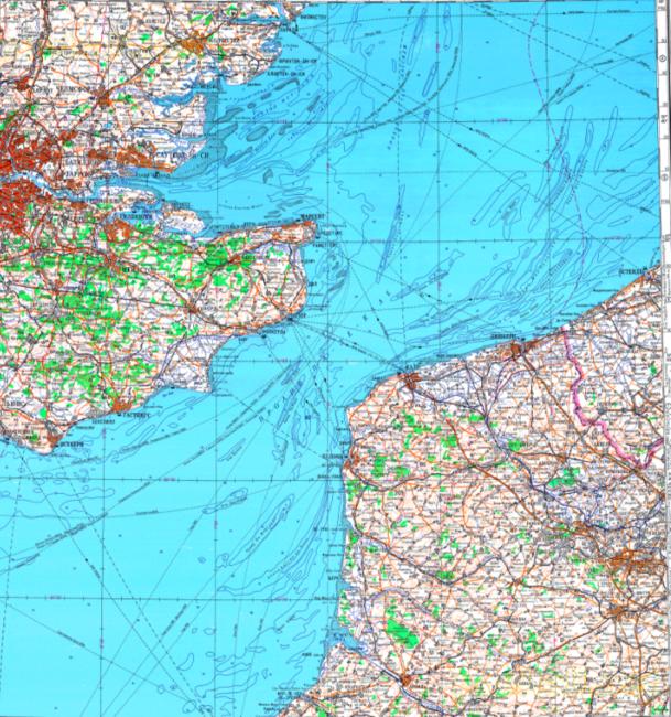 A map of the British channel | © redatlasbook.com