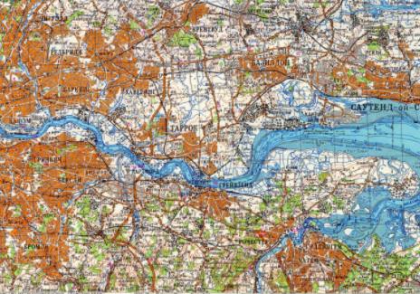 A map of London | © redatlasbook.com