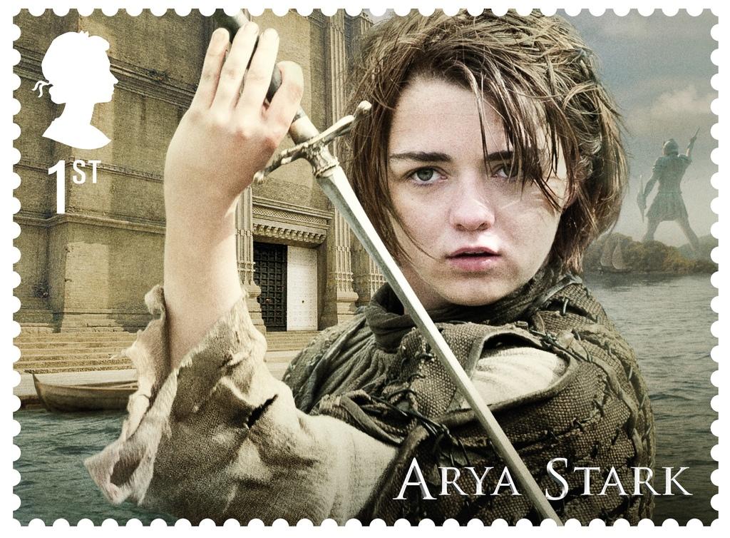GoT Arya Stark stamp