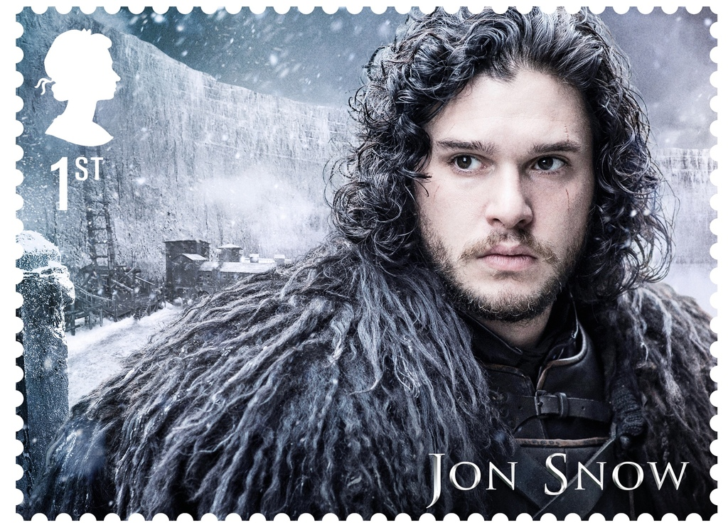 GoT Jon Snow stamp