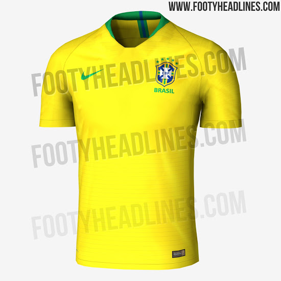 90c72f9a1 Brazil Going for Gold as 2018 World Cup Shirt is Leaked