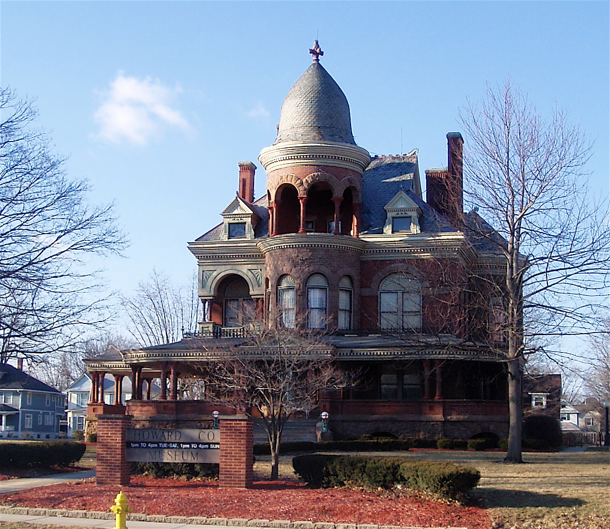 Seiberling Mansion In Kokomo Rapierce Wikicommons