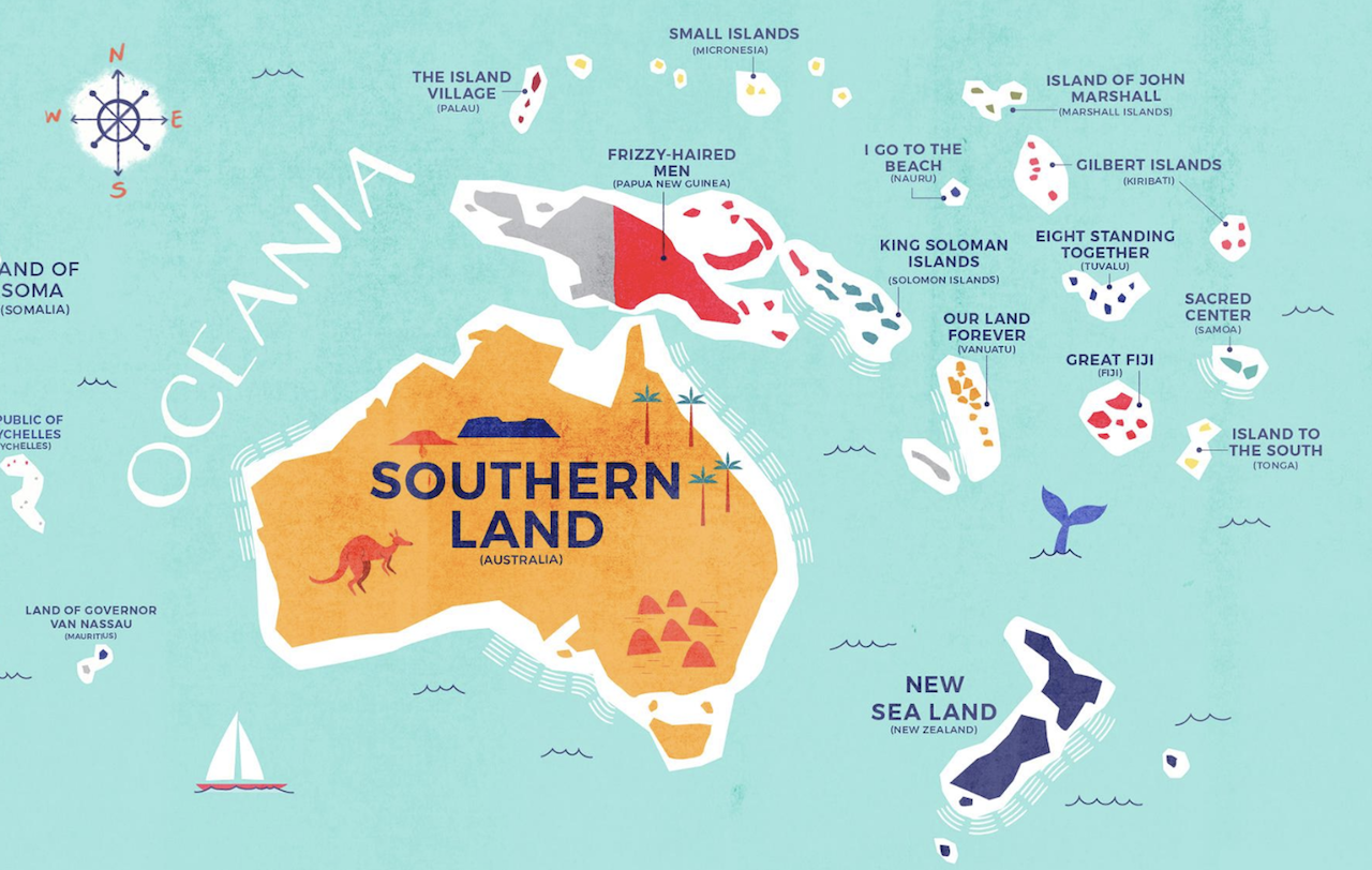 Australia Map Rude Names.This Enlightening Map Shows The Literal Meaning Of Every Country S Name