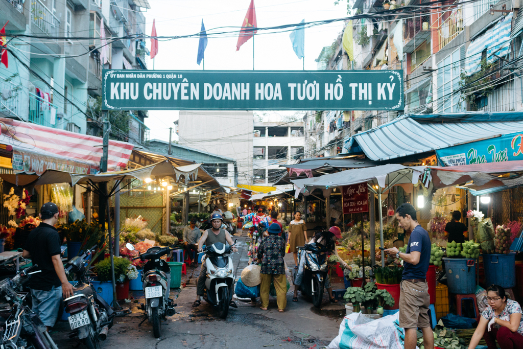 HOTHIKY FLOWER MARKET-DISTRICT 10-SAIGON-VIETNAM