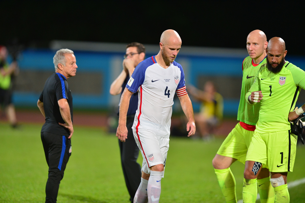 USA MNT after their 2018 World Cup qualifier against Trinidad and Tobago, 2017 Trinidad and Tobago vs USA, Couva - 10 Oct 2017